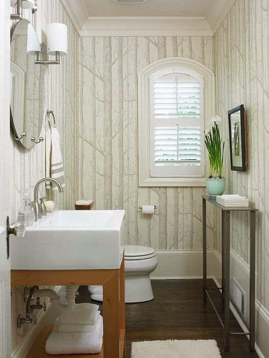 Small Modern Powder Room
