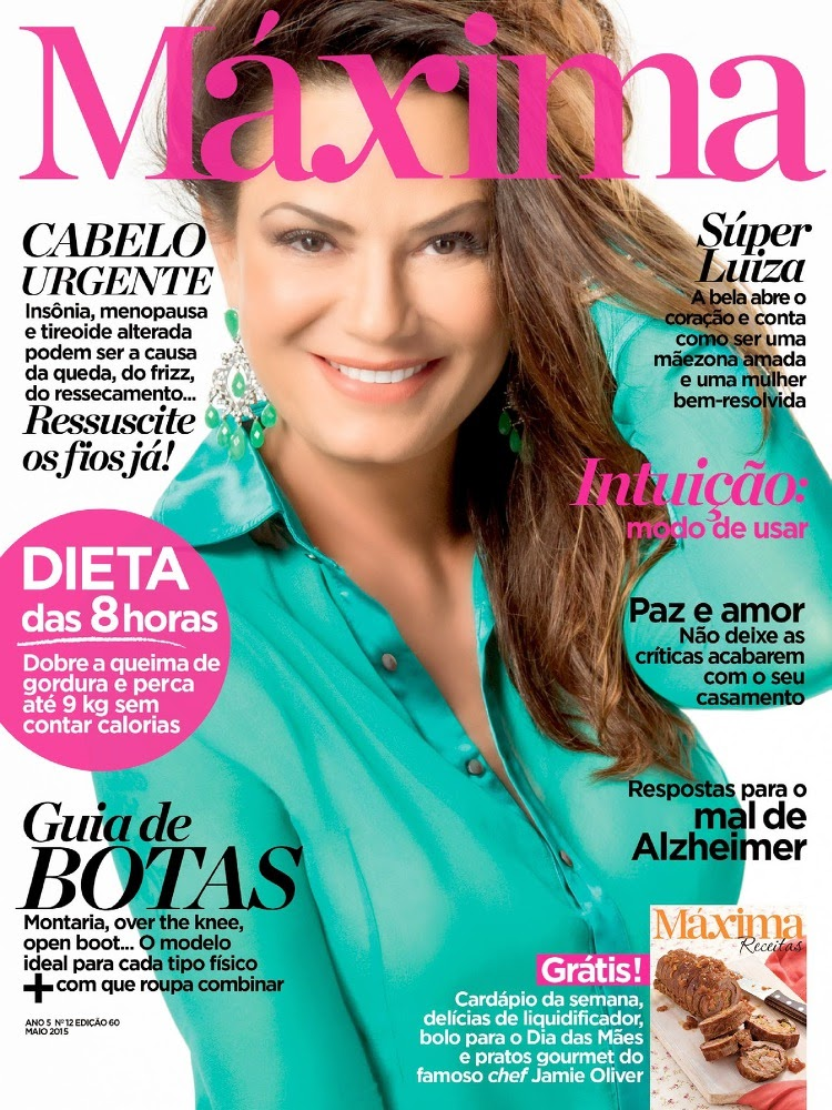 Model, Actress @ Luiza Brunet - Máxima Brazil, May 2015