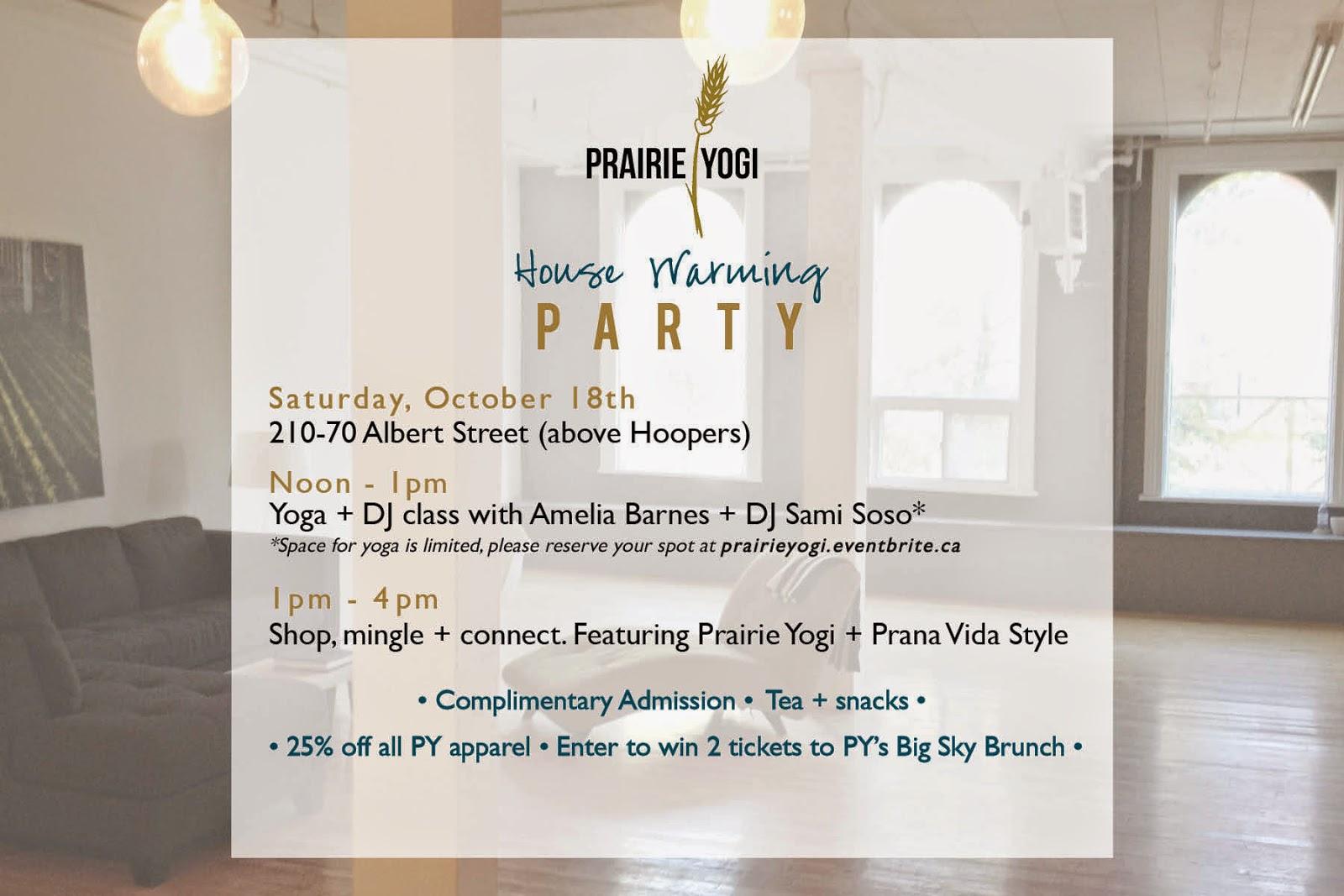 Prairie Yogi housewarming, Amelia barnes, DJ sani soso, Prairie Yogi Apparel,