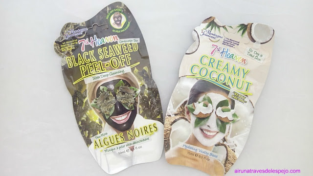 mascarillas algas negras crema coco 7th heaven