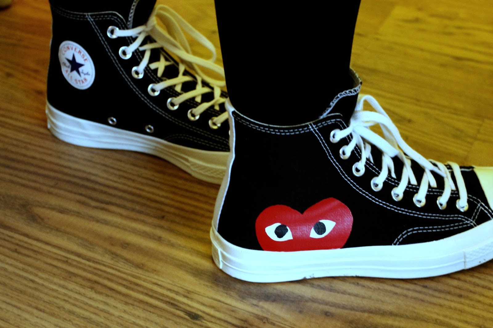 cdg converse high black