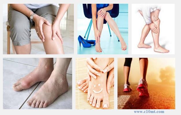 Năm dấu hiệu nhận biết bệnh đau chân thường gặp www.c10mt.com