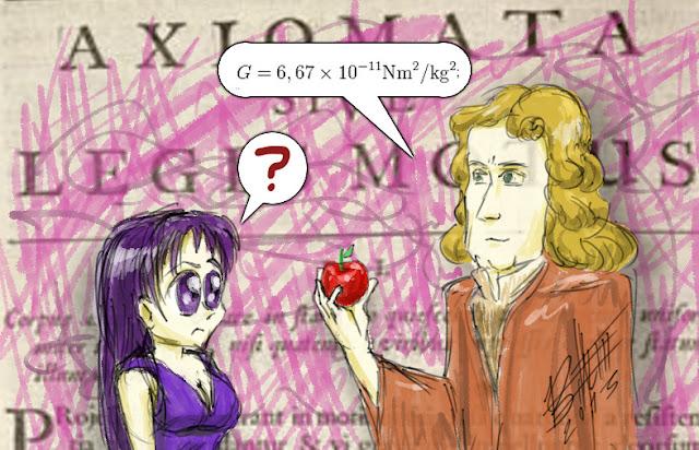 Isac Newton de neve, a maça e a bruxa