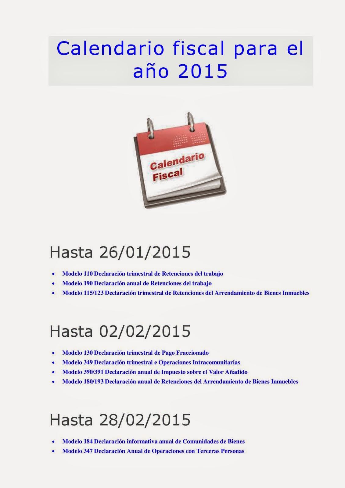 calendario fiscal 2015
