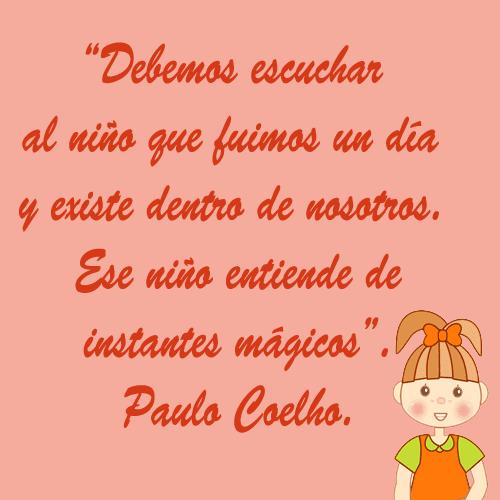 Imagen con frase de Paulo Coelho