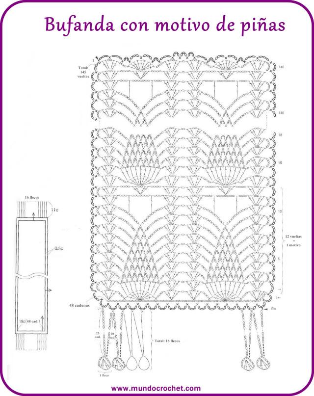 Contemporáneo Tubo Patrón Bufanda Crochet Ilustración - Ideas de ...