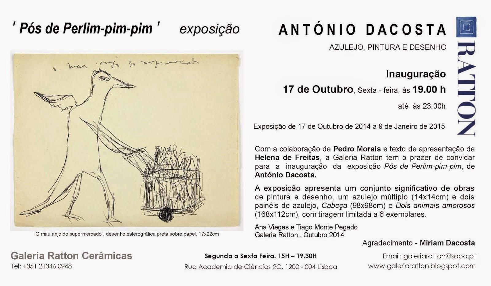 António Dacosta Convite PT