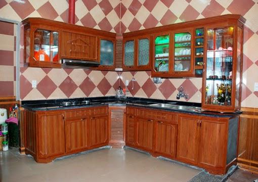 tủ bếp nhôm kính treo tường 4