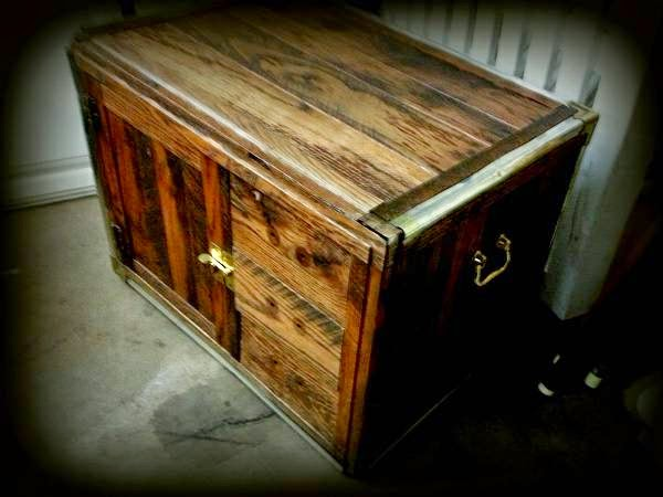 SOLD * Rustic Hand-made Trunk / Table (OKC) $25 ...