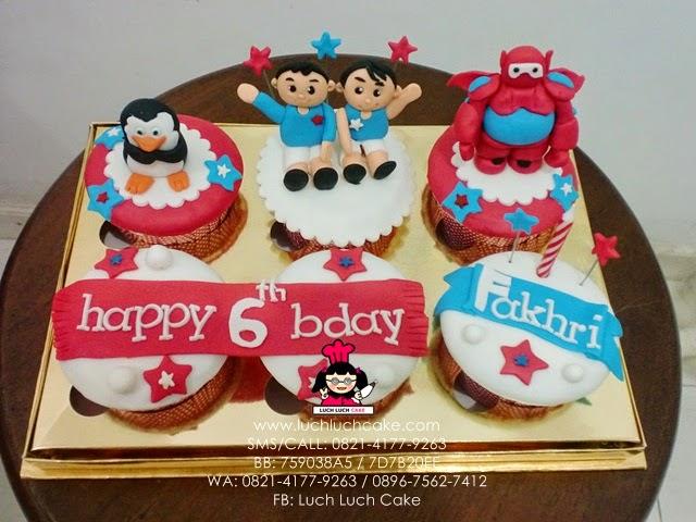 Cupcake Baymax Daerah Surabaya - Sidoarjo