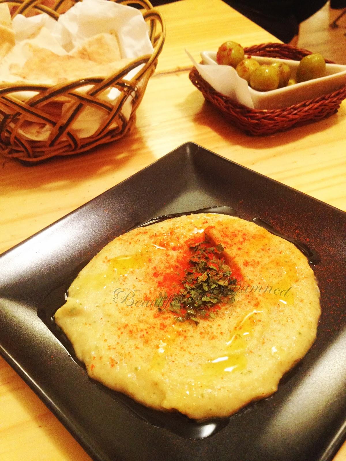 Hummus con pitta