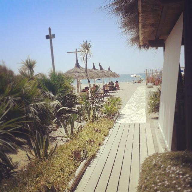Arriving at Fiumara beach club and restaurant