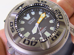 CITIZEN DIVER 300 METER ECOZILLA TITANIUM CASE - WITH ZUPPA ADAPTER LUG - VERY RARE