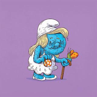 Green Pear Diaries, diseño gráfico, ilustración, Alex Solis, Famous Oldies, Smurfette, Pitufina, The Smurfs, Los Pitufos