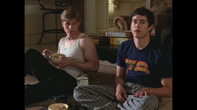 seth cohen 78 blue tshirt ryan atwood eating cereal wife beater