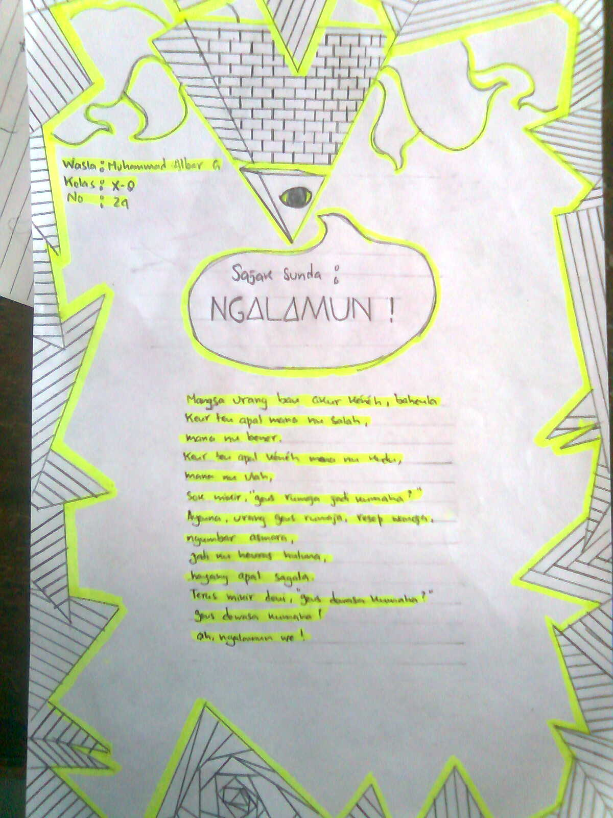 exodia today : Mengarang Sajak Bahasa Sunda