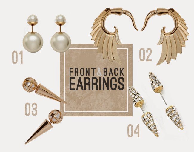 shop Front and back earrings / where to get them