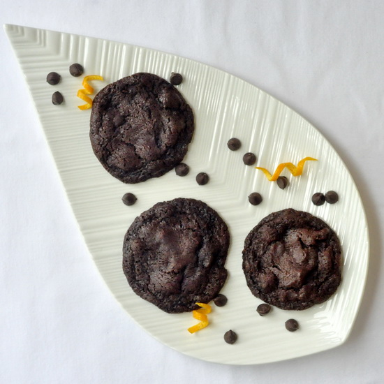 Orange Dark Chocolate Chip Cookies