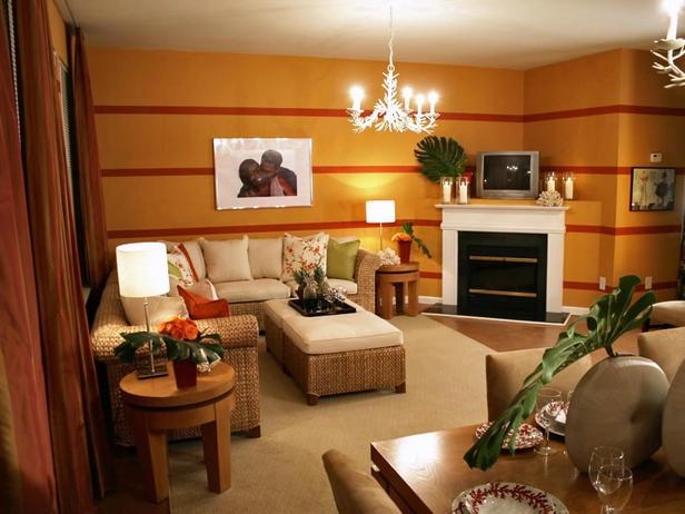 Decora y disena 10 salas en color naranja - Decoracion con color naranja ...
