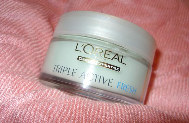 Żel-krem nawilżający do skóry normalnej i mieszanej Triple Active Fresh, L'Oreal