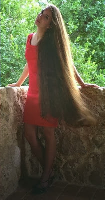 Alina super long hair model The Long Hair Site