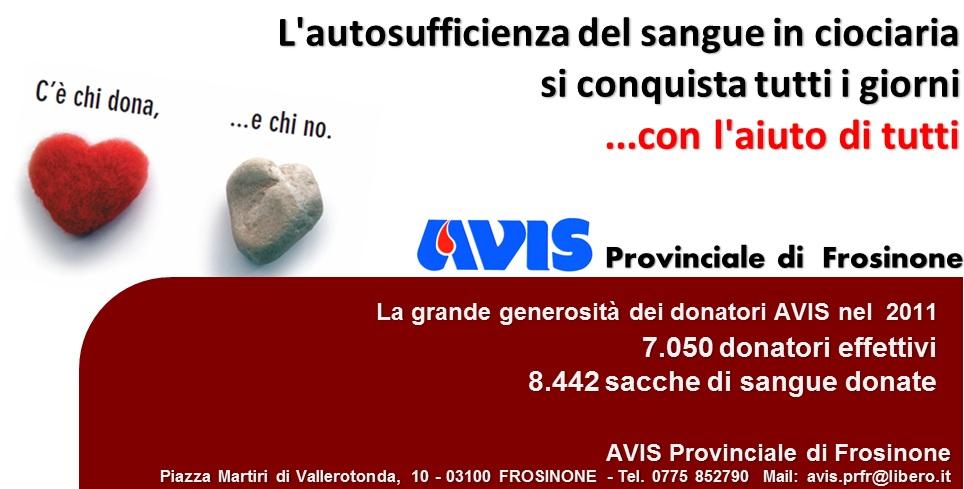 """AVIS Provinciale di Frosinone """"La Ciociaria che dona"""""""