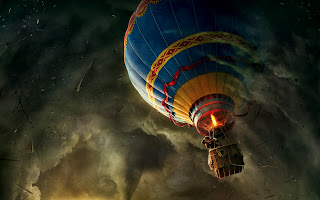 Oz The Great and Powerful Air Baloon HD Wallpaper