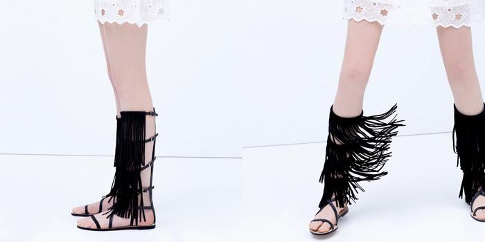 Catalogo de zapatos sandalias gladiadoras alpargatas cuñas bluchers de nueva coleccion de Zara