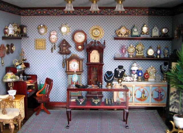 miniature jewelry shop