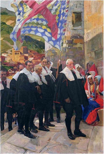 Conselho Municipal de El Roncal. Joaquín Sorolla, 1914.