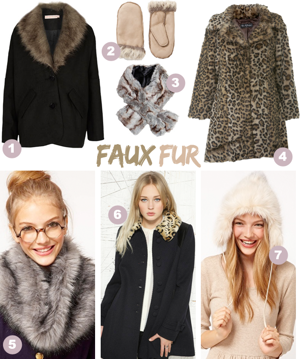 Faux fur trend, online shopping high street blog post