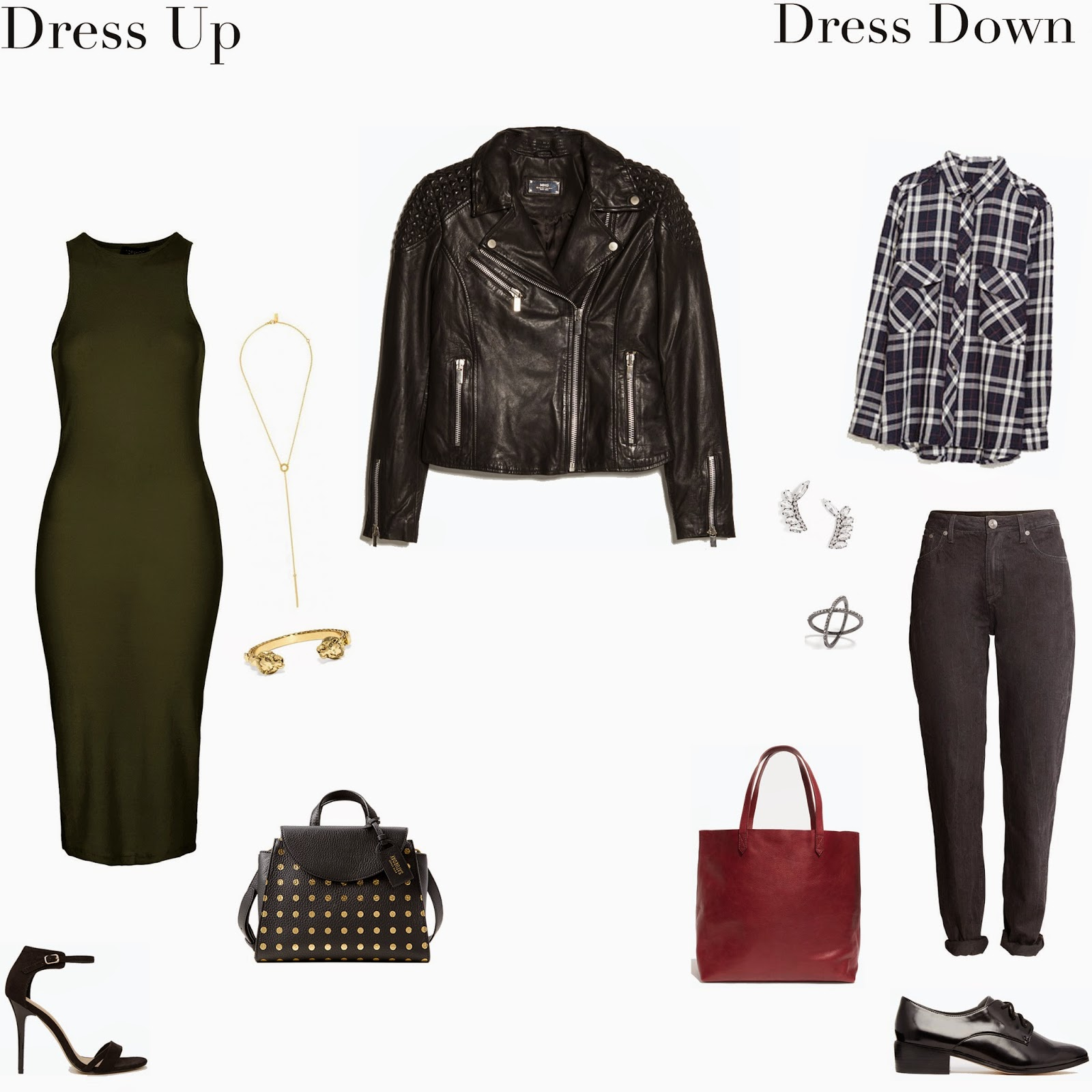 Edie's Closet, Leather Jacket Dress Up/Dress Down
