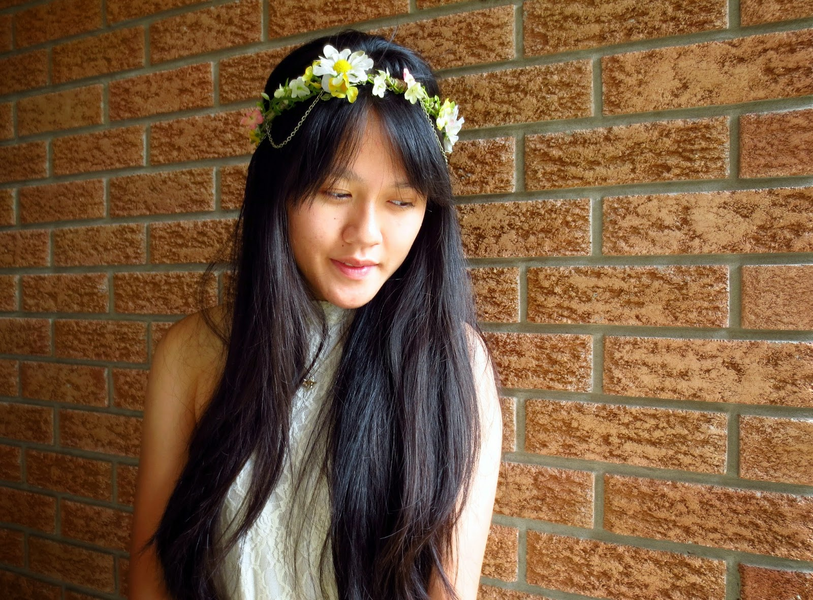 diy flower crown gold chain