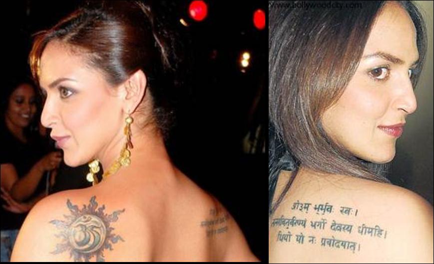 Ink tattoos esha deol back tattoo
