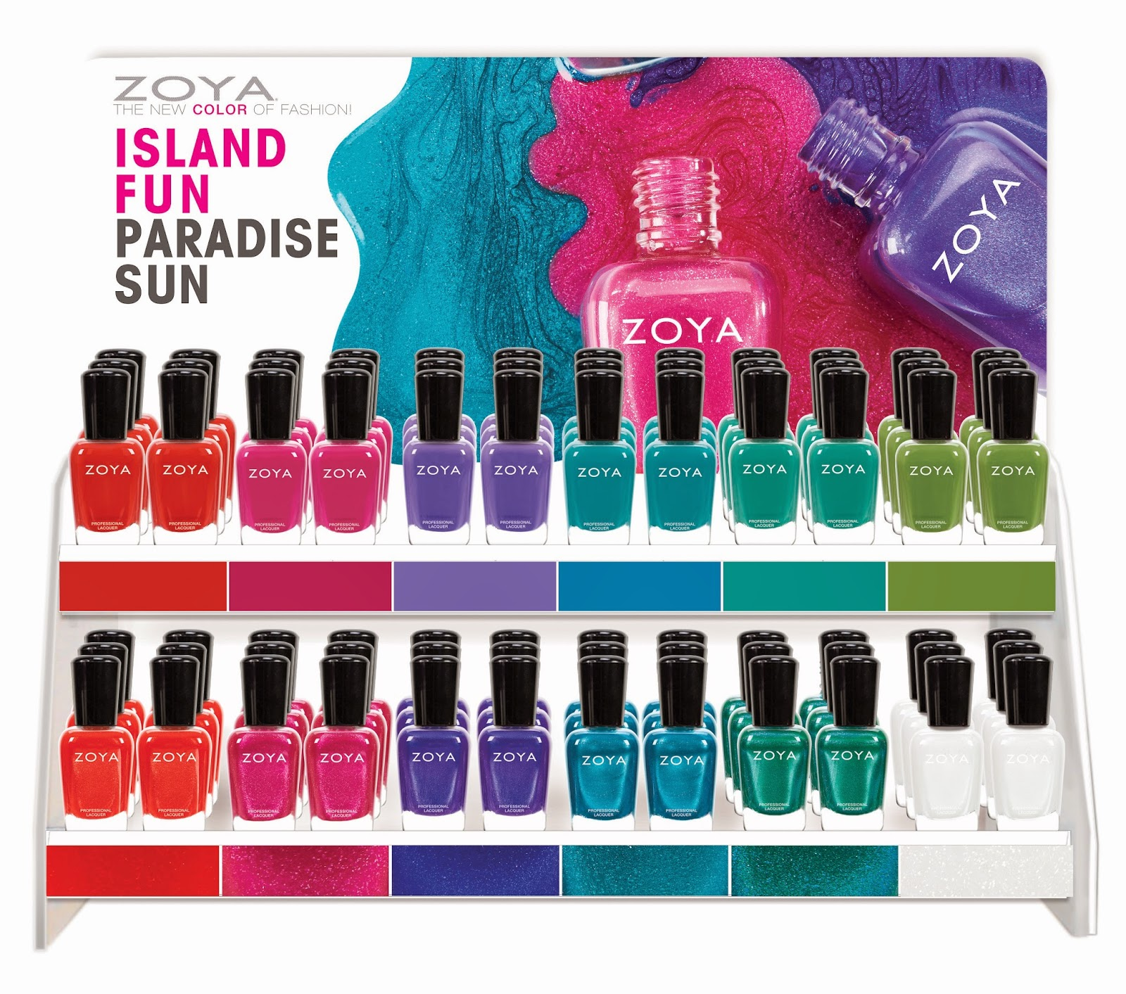 Zoya Island Fun & Paradise Sun Summer Collections 2015 - Press Release