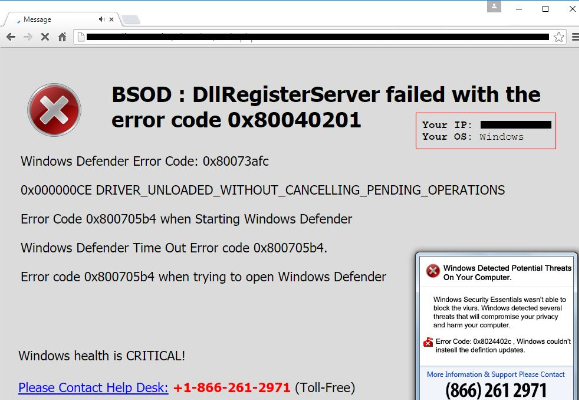 Failed with the error code 0x80040201 quot pop up effectively and safely