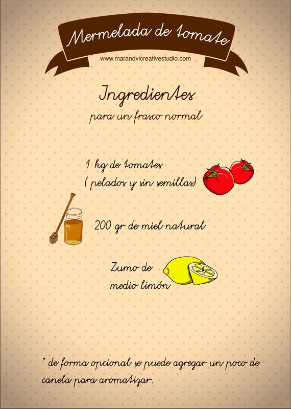 mermelada casera de tomate: ingredientes
