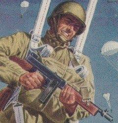 Comic book paratrooper