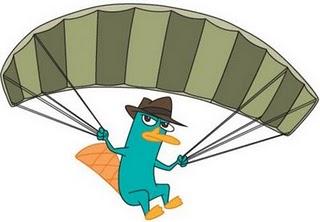 Perry en paracaídas