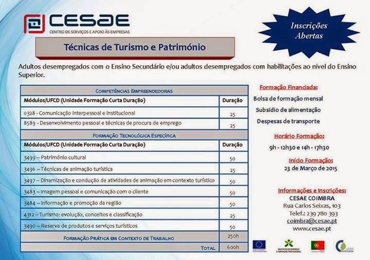 curso para desempregados em Coimbra
