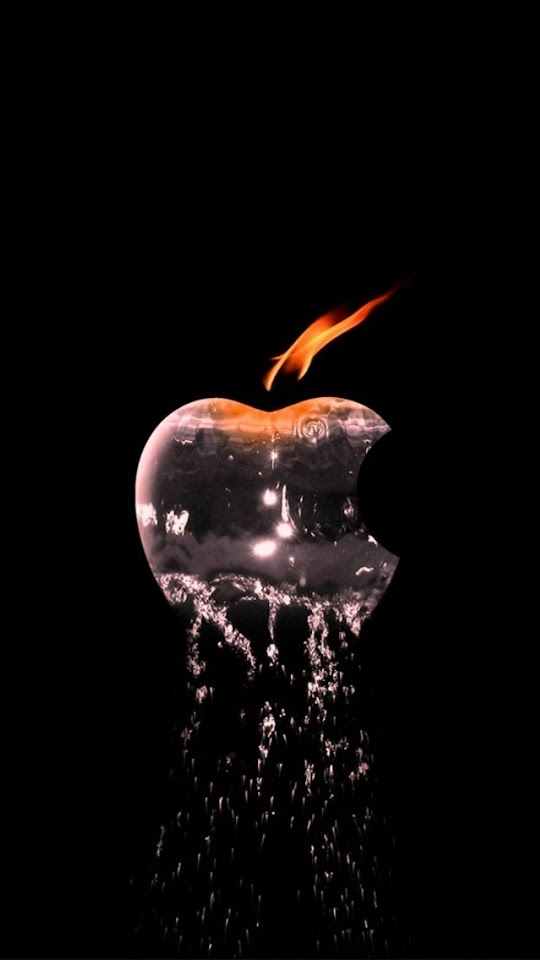 Water 038 Flame Apple Logo   Galaxy Note HD Wallpaper