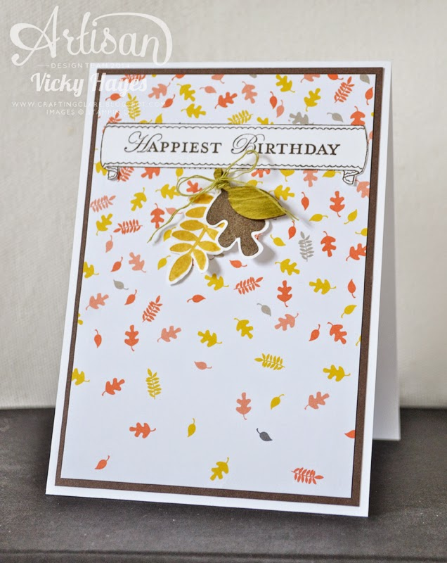 Autumn birthday ideas from Vicky Hayes, UK Stampin' Up demonstrator and Artisan Design Team member