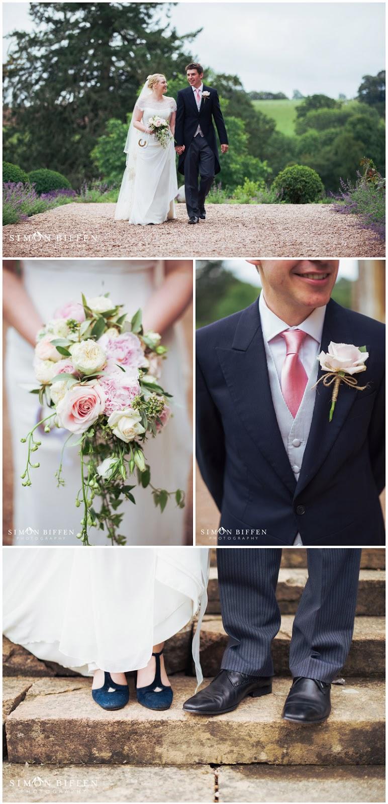 Huntsham Court wedding photography bride and groom