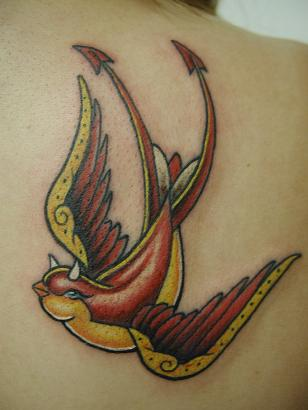 Beautifull Feminine Bird Tattoos Design Ideas