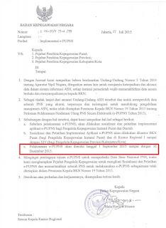 Surat Kepala BKN tentang implementasi ePUPNS