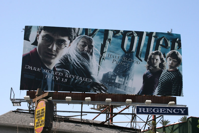 Harry Potter Half-Blood Prince billboard