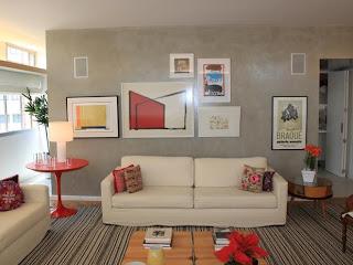 como decorar uma sala usando quadros