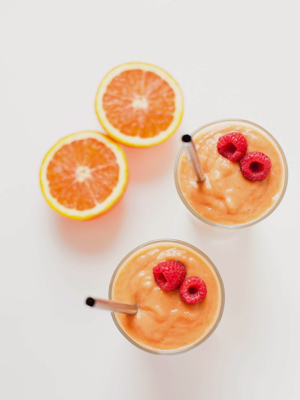 Orange Peach Raspberry Smoothie (Paleo, Vegan)
