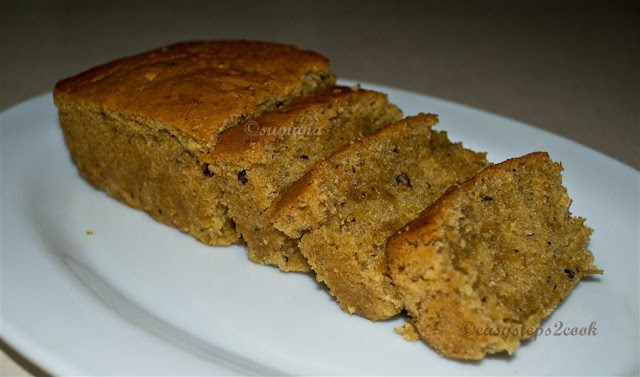 Eggless ginger cake with cinnamon and clove powder