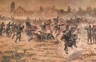 detalle del 'Combate de San Lorenzo', óleo de Angel della Valle, exhibido en el Museo Histórico Nacional. Tomado de Wikipedia